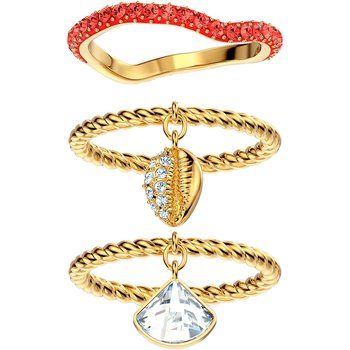 SWAROVSKI Red Shell Ring Set