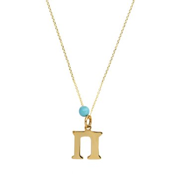 Necklace with monogram 14K Gold SAVVIDIS