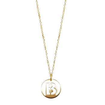 Necklace with monogram 14K