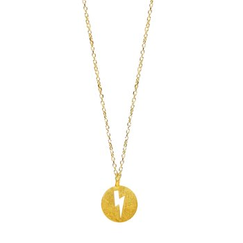 Necklace with thunderbolt 14K