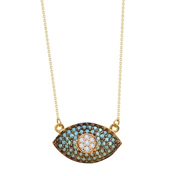 Necklace Evil Eye 14K Gold