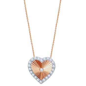 Necklace The Love Collection 14Κ Rose Gold with zircon SAVVIDIS