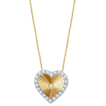 Necklace The Love Collection 14Κ Gold with zircon SAVVIDIS