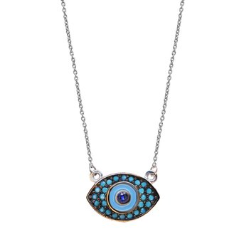 Necklace evil eye14Κ White Gold SAVVIDIS