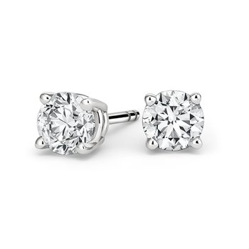 Earrings 18ct white gold with
