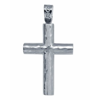 Cross 14ct White Gold FaCaDoro