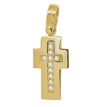 Cross 14ct Gold with zircon
