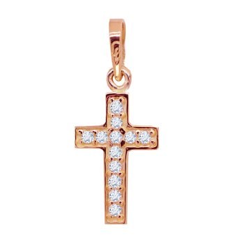 Cross 14ct Rose Gold with