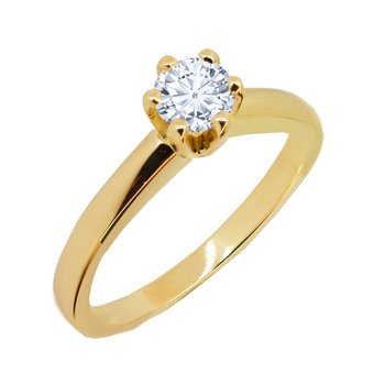 Solitaire ring 18ct gold with