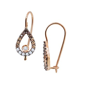 Earrings 14ct Rose Gold with