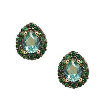 Earrings 14K Gold with zircon