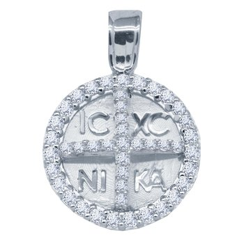 Charm 14ct white gold with