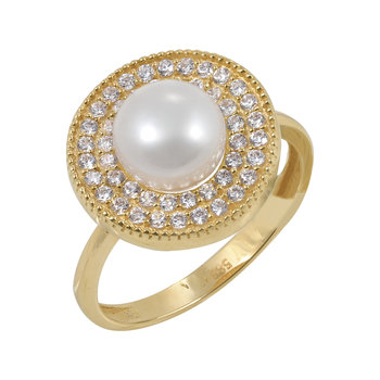 Ring 14ct Gold with Pearl and