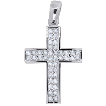 Cross 14K white gold with