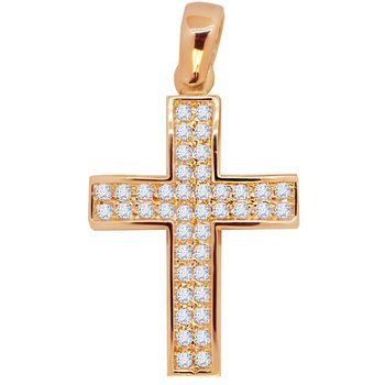 Cross 14K rose gold with