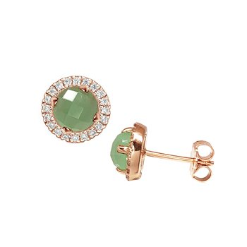 Earrings 14K rose gold with