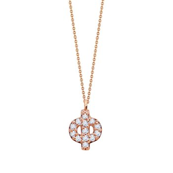Necklace monogram 14ct rose