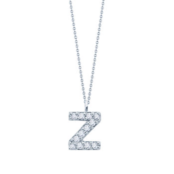 Necklace monogram 14ct white