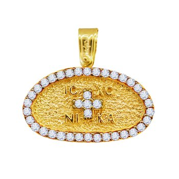 Charm 14ct Gold With Zircon