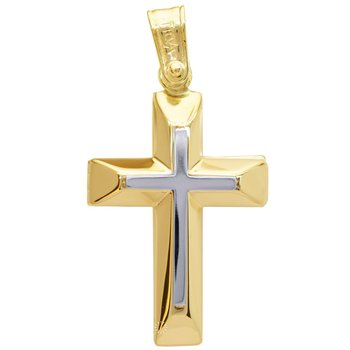 Cross 14ct Gold  and White