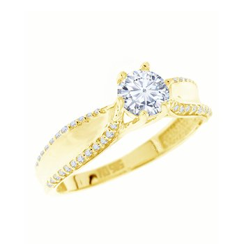 Solitaire ring 14ct Gold