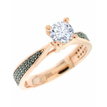 Solitaire ring 14ct Rose Gold