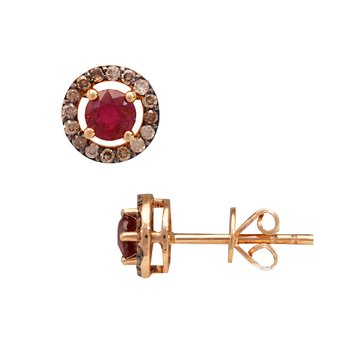 Earrings 18K Rose Gold with