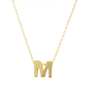 Necklace monogram Μ Le Petit