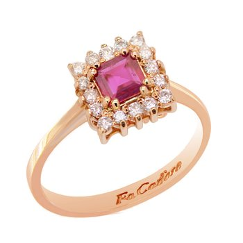 Ring 18ct Rose Gold with