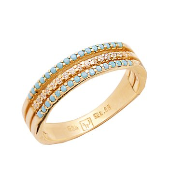 Ring 14K gold with zircon