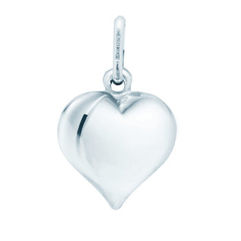 Pendant heart 14ct white gold