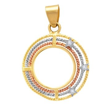 Pendant 14ct gold, white gold