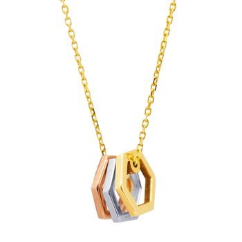 Necklace 14ct gold, white
