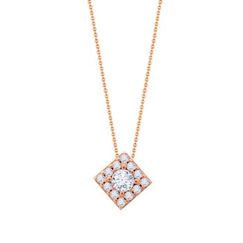 Necklace 9K rose gold  with