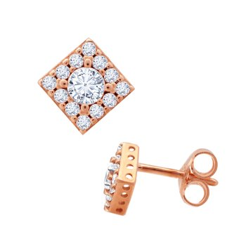 Earrings 9K rose gold with