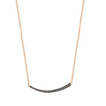 Necklace 9ct rose gold with