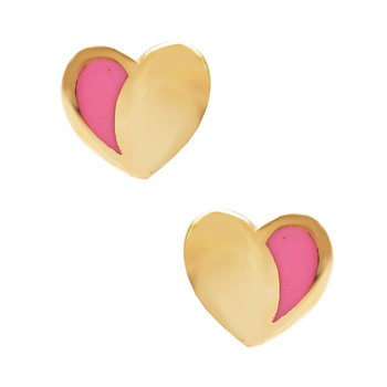 Earrings with heart 14ct gold