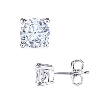 Earrings 14ct white gold with