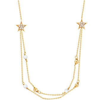 Necklace 9ct gold with zircon