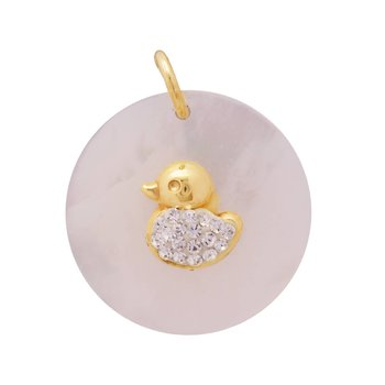 Pendant 14ct gold with zircon