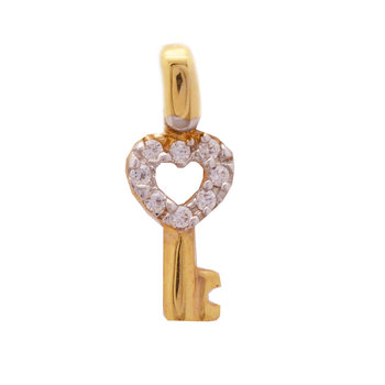 Pendant key 14ct gold with