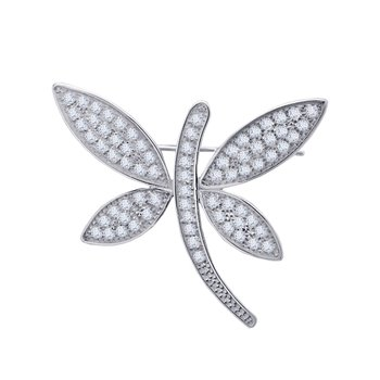 Brooch 14ct white gold with