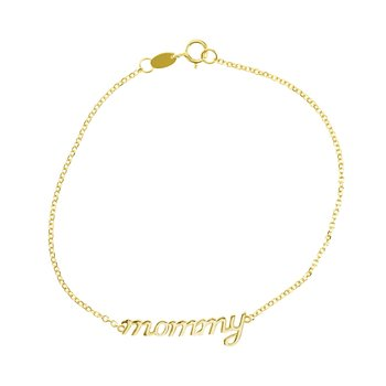 Bracelet mommy 14ct gold