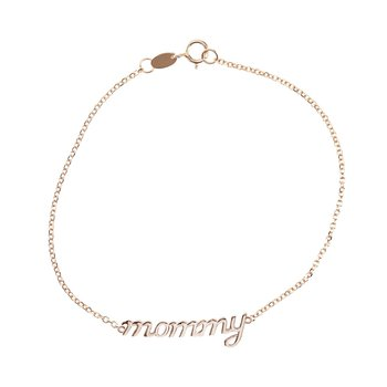 Bracelet mommy 14ct rose gold