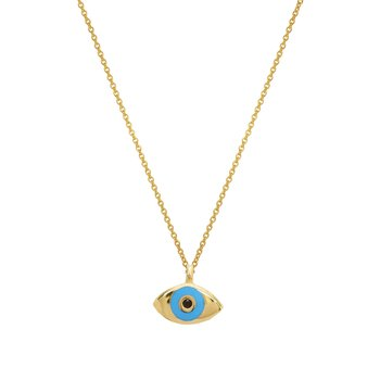 Necklace with evil eye 9ct