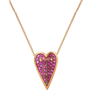 Necklace with heart 9ct rose