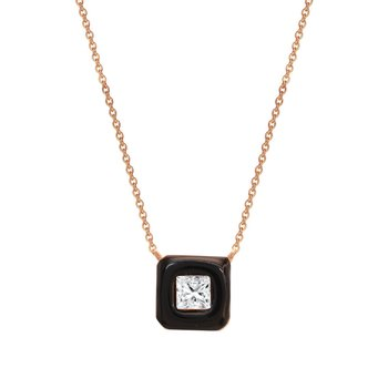 Necklace 14ct rose gold with