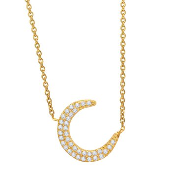 Necklace with moon 14ct gold