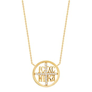 Necklace with charm 14ct gold