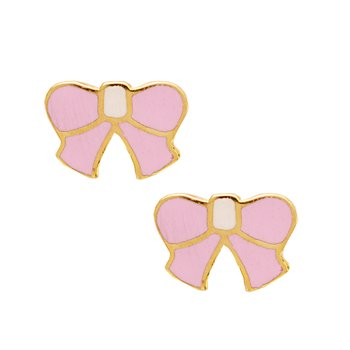 Earrings with bow 9ct gold